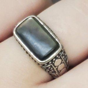 Premier Design 925 Sterling Silver & Aboline Ring